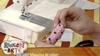 Bincha para niñas con retazos de tela
