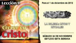 SÁBADO 24/11/2012 – LECCIÓN 9 – ESTUDIO ESTA SEMANA