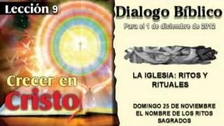 DOMINGO 25/11/2012 – DIALOGO BÍBLICO – EL NOMBRE DE LOS RITOS SAGRADOS