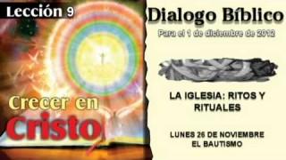 LUNES 26/11/2012 – DIALOGO BÍBLICO – EL BAUTISMO