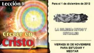 VIERNES 30/11/2012 – LECCIÓN 9 – PARA ESTUDIAR Y MEDITAR