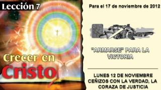 LECCIÓN 7 – LUNES 12 DE NOVIEMBRE 2012 – CEÑIDOS CON LA VERDAD, LA CORAZA DE JUSTICIA