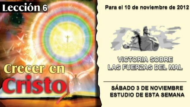 LECCIÓN 6 – SÁBADO 3 DE NOVIEMBRE 2012 – ESTUDIO DE ESTA SEMANA