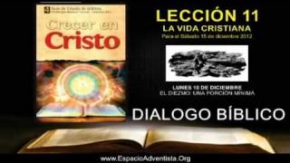 LUNES 10/12/2012 – DIALOGO BÍBLICO – EL DIEZMO UNA PORCIÓN MÍNIMA