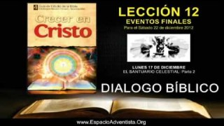 LUNES 17/12/2012 – DIALOGO BÍBLICO – EL SANTUARIO CELESTIAL PARTE 2
