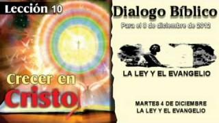 MARTES 4/12/2012 – DIALOGO BÍBLICO – LA LEY Y EL EVANGELIO