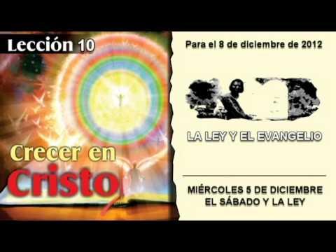 MIÉRCOLES 5/12/2012 – LECCIÓN 10 – EL SÁBADO Y LA LEY