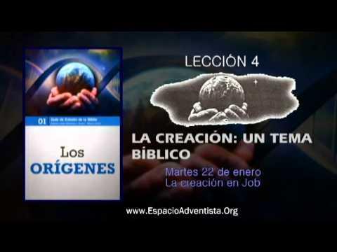 Lección 4 – Martes 22 de enero 2013 – La creación en Job
