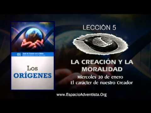 Lección 5 – Miércoles 30 de enero 2013 – El carácter de nuestro Creador