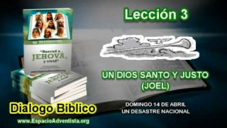Dialogo Bíblico – Domingo 14 de abril 2013 – Un desastre nacional