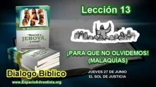Dialogo Bíblico | Jueves 27 de junio 2013 | El sol de justicia