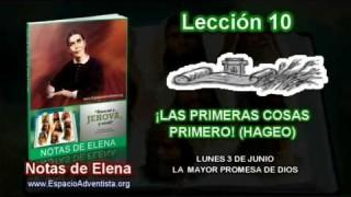 Notas de Elena | Lunes 3 de junio 2013 | La mayor promesa de Dios
