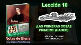 Notas de Elena – Sábado 1 de junio 2013 – Para memorizar