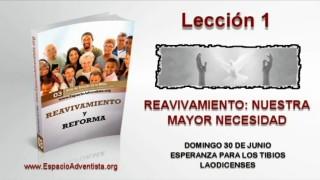 Lección 1 – Domingo 30 de junio 2013 – Esperanza para los tibios laodicenses