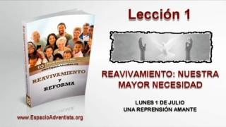 Lección 1 – Lunes 1 de julio 2013 – Una reprensión amante