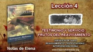 Notas de Elena | Jueves 25 de julio 2013 | Reavivamiento, testificación e intervención divina