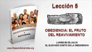 Lección 5   Lunes 29 de julio 2013   El elevado costo de la obediencia