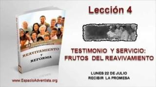 Lección 4   Lunes 22 de julio 2013   Recibir la promesa