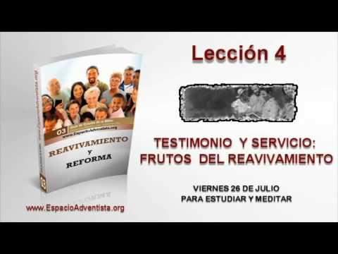 Lección 4   Viernes 26 de julio 2013   Para estudiar y meditar