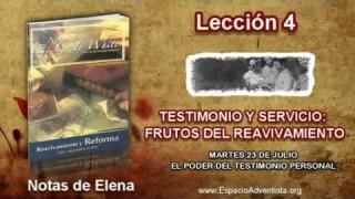 Notas de Elena | Martes 23 de julio 2013 | El poder del testimonio personal