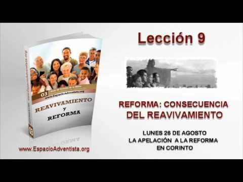 Lección 9   Lunes 26 de agosto 2013   La apelación a la reforma de Corinto