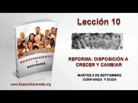 Lección 10   Martes 3 de septiembre 2013   Confianza y duda