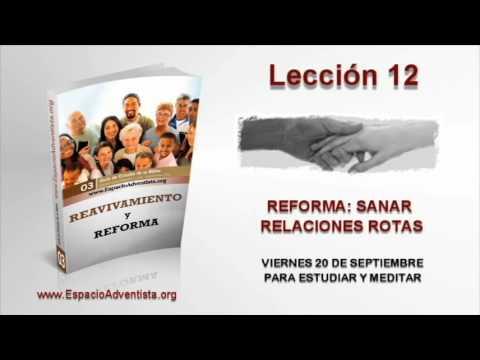 Lección 12   Viernes 20 de septiembre 2013   Para estudiar y meditar