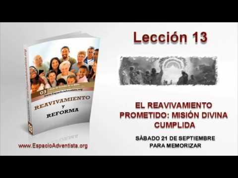Lección 13   Sábado 21 de septiembre 2013   Para memorizar