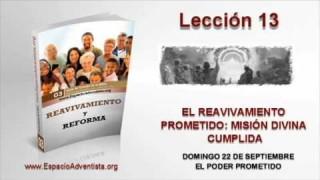 Lección 13   Domingo 22 de septiembre 2013   El poder prometido