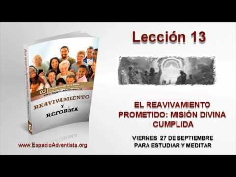 Lección 13   Viernes 27 de septiembre 2013   Para estudiar y meditar