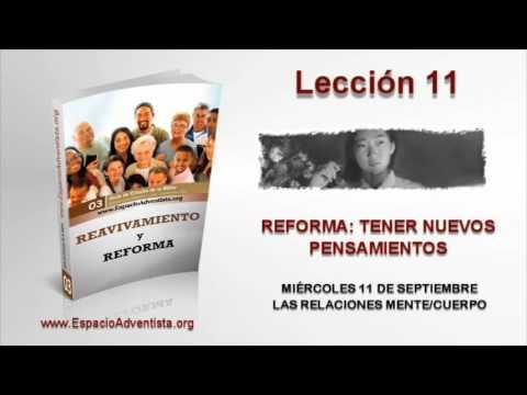 Lección 11   Miércoles 11 de septiembre 2013   Las relaciones mente/cuerpo