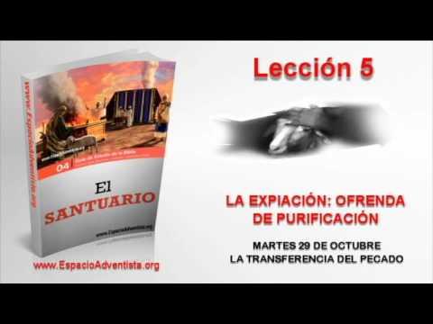 Lección 5 | Martes 29 de octubre 2013 | La transferencia del pecado
