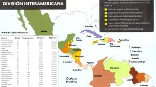 Mapa División Interamericana | Escuela Sabática | Cuarto trimestre 2014