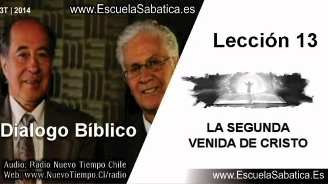 Dialogo Bíblico   Lunes 22 de septiembre 2014   El propósito de la segunda venida de Jesús