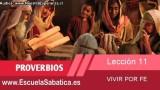 Lección 11 | Miércoles 11 de marzo 2015 | Manual para los pobres | Escuela Sabática