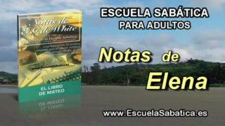 Notas de Elena | Jueves 19 de mayo 2016 | Jesús y el impuesto del templo | Escuela Sabática