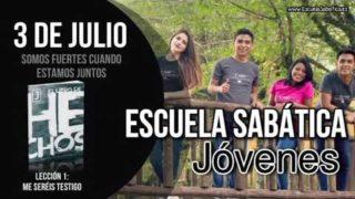Escuela Sabática Jóvenes   Martes 3 de julio del 2018   Somos fuertes cuando estamos juntos
