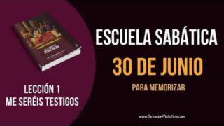 Lección 1 | Sábado 30 de junio 2018 | Para memorizar | Escuela Sabática