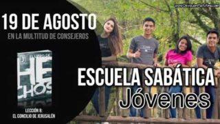 Escuela Sabática Jóvenes   Domingo 19 de agosto del 2018   En la multitud de consejeros