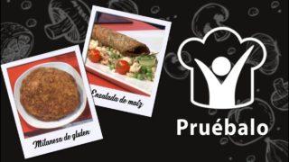 Milanesa de gluten – Ensalada a base de maíz   Pruébalo