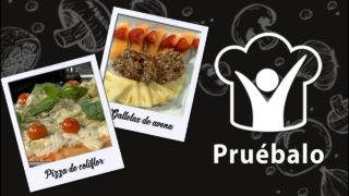 Pizza de coliflor – Galletas de avena con chips de chocolate – Falafel   Pruébalo