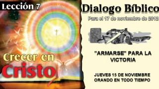 DIALOGO BÍBLICO – JUEVES 15 DE NOVIEMBRE 2012 – ORANDO EN TODO TIEMPO