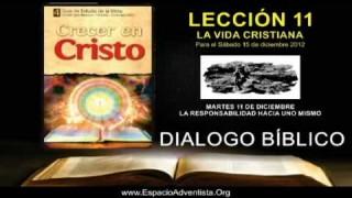 MARTES 11/12/2012 – DIALOGO BÍBLICO – LA RESPONSABILIDAD HACIA UNO MISMO