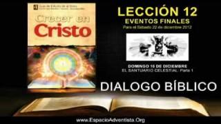 DOMINGO 16/12/2012 – DIALOGO BÍBLICO – EL SANTUARIO CELESTIAL: Parte 1