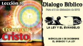 MIÉRCOLES 5/12/2012 – DIALOGO BÍBLICO – EL SÁBADO Y LA LEY