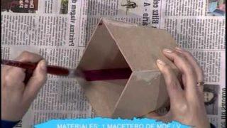 Macetero con lavandas – Patina de vela | Rincón de Arte | Nuevo Tiempo