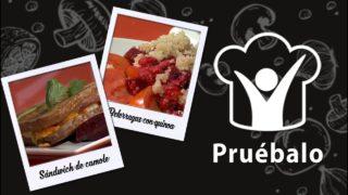Sándwich de camote zanahoria y coliflor –  Beterragas con quinoa | Pruébalo