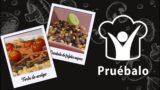 Torta de acelga  Ensalada de fríjoles negros | Pruébalo