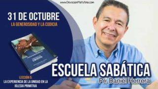 Escuela Sabática | 31 de octubre 2018 | La generosidad y la codicia | Pr. Daniel Herrera