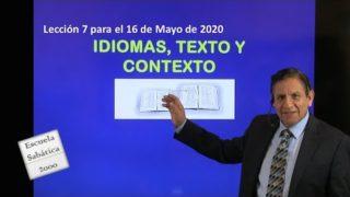Lección 7 | Idiomas, texto y contexto | Escuela Sabática 2000